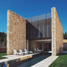 Top 10 Modern house designs – Modern Home Brick Architecture, Concept Architecture, Residential Architecture, Amazing Architecture, Architecture Details, Interior Architecture, Arch House, Facade House, Stone Facade
