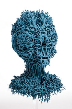 """Organic"" 3D printed sculptures by Nick Ervinck"