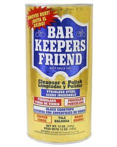Bar Keepers Friend® Cleanser & Polish: Bar Keepers Friend works marvelously at removing the windshield wiper streaks\scratches from your windshield.