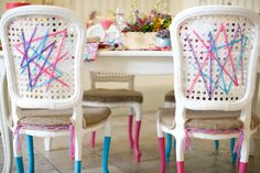 Love the legs contemporary styled tablescape by @Pocketful of Dreams