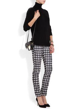 houndstooth pants and turtleneck Jerome Dreyfuss, Isabel Marant, Look Legging, Long Black Sweater, Valentino, Cashmere Turtleneck, Vintage Pants, Printed Pants, Fashion Branding