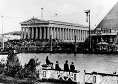 Tennessee Centennial Exposition 1897, Nashville, TN.  During the exposition, the Parthenon was crammed with artwork and was the centerpiece of the fair.