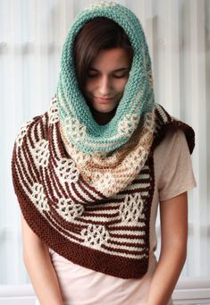 Knitting Pattern for Serenity Cowl Shawl