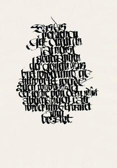 The Berlin #Calligraphy Collection: Heinz Schumann Frankenhäuser Artikel. Thomas Müntzer, o. J. 42 x 60 cm