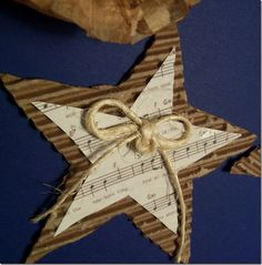 I love this star diy Christmas ornament - were going to give these a try!