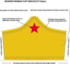 Wonder women cuff bracelet pattern