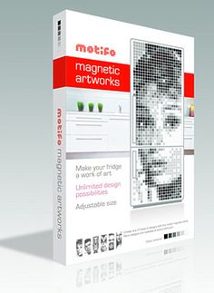 Mofoto - magnetic pixels = fridge art