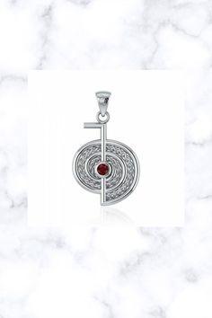 The Reiki Cho Ku Rei Gemstone Sterling Silver Pendant Cho Ku Rei, Fantasy Jewelry, Stone Jewelry, Reiki, Sterling Silver Pendants, Gemstones, Gems, Jewels, Minerals