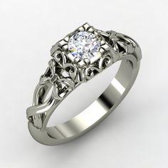 The Ribbon Lace Ring #customizable #jewelry #diamond #gold #ring