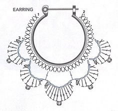 Lotus hoop earrings  . . . .   ღTrish W ~ http://www.pinterest.com/trishw/  . . . .  #crochet #jewelry