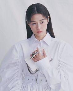 Hyun Kim, My Love From The Star, Vogue Korea, Korean Girl, Actors & Actresses, Kdrama, Alexander Mcqueen, Bell Sleeve Top, Coat