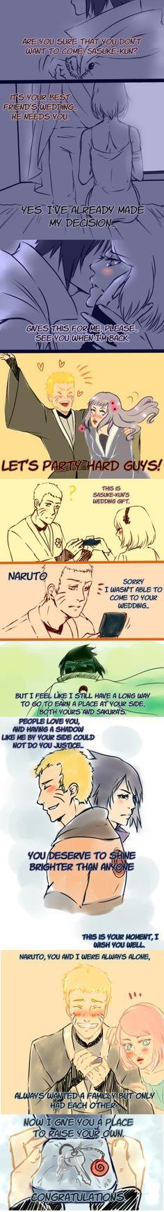 Naruto - Why Sasuke was not at Narutos wedding