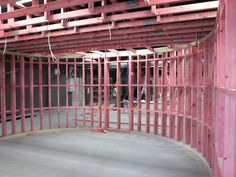 curved wall structure double frame sound resistant room