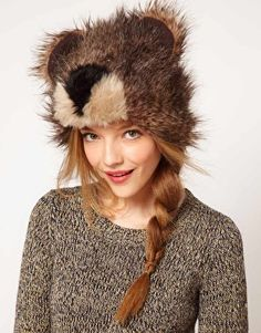 Enlarge ASOS 3D Bear Fur Hat