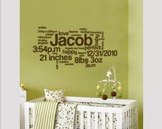 great idea over crib - on canvas so removable