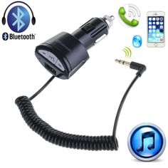 A2DP 3.5mm Car AUX Stereo Audio Receiver Handsfree Bluetooth Adapter USB Charger in Consumer Electronics,Vehicle Electronics & GPS,Car Electronics Accessories | eBay