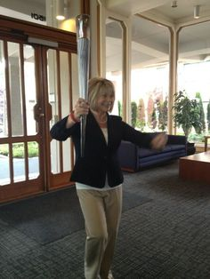 Tracy Barry arrives at KGW today with her Olympic Torch!  Thanks @SallyKGW