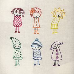 Makes me smile. Cute little girls in embroidery.