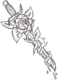 .com/dagger-tattoos/awesome-rose-flower-and-dagger-tattoo-design ...