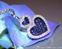 Ceylon Sapphire Diamond Pendant, 2,20 ct. WG14K - Visit: schmucktraeume.com
