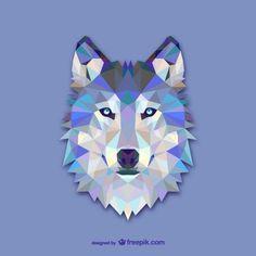 Dreieck Wolf Design Kostenlose Vektoren