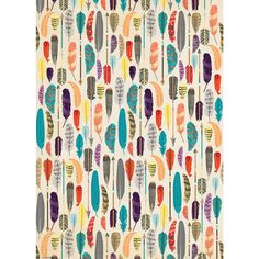 Feathers Wrapping Paper...use for packaging, envelope liners, or as an invitation band/wrap...or back with cardstock and cut out individual feathers to use on a wreath or for a garland or napkin decor  {Paper Source}