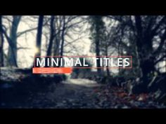 Minimal Titles (Videohive After Effects Templates)