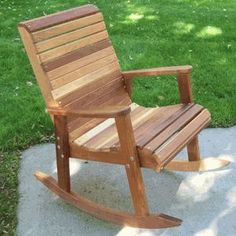 Cedar Wood Countryside Rocking Chair The Effective Pictures We Offer You About Diy Wood Toys woodwor Rustic Rocking Chairs, Rocking Chair Plans, Woodworking Logo, Woodworking Plans, Woodworking Videos, Green Woodworking, Japanese Woodworking, Youtube Woodworking, Woodworking Equipment