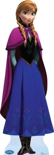 Life Size Cut Out - Disney Frozen Anna - Sorry Ots Gorgeous Anna sister of the Snow Queen Elsa life size cutout would make a fantastic decoration at any Disney. Anna Disney, Frozen Disney, Film Frozen, Walt Disney, Elsa Frozen, Frozen Cape, Frozen 2013, Disney Theme, Cosplay Frozen