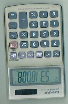 Spelling words with your calculator