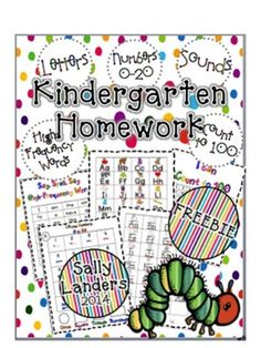FREEBIE! Kindergarten Homework PacketIncludes:LettersHigh-Frequency WordsNumbers 0-20Counting to 100Also includes links to make your own Listening Centers!I hope we can help lots of Kinders with this pack!Sally Landers Kindergarten Literacy, Classroom Activities, Kindergarten Homework Folder, Preschool, Classroom Organization, Classroom Ideas, Homework Binder, Homework Folders, Homework Ideas