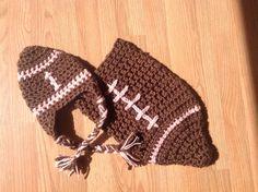 Football cocoon for a newborn baby girl. Handmade