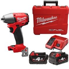 Milwaukee® designed and built brushless POWERSTATE™ motor for longer motor life and up to more power REDLINK PLUS™ intelligence system delivers the most advanced . Cordless Power Tools, Impact Wrench, Makita, Milwaukee, Home Depot, Singapore, Drill, Garage, Shop