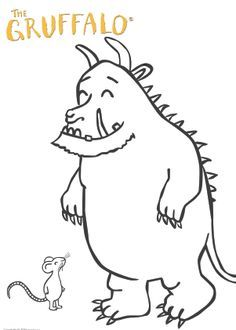 It is a photo of Modest Gruffalo Coloring Pages