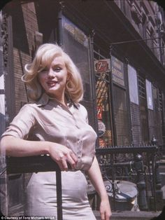 Six photos of legendary film icon Marilyn Monroe taken by her friend Frieda Hull on July 8...