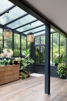 House Extension Design, House Design, Patio, Backyard, Sunroom Dining, Shoreditch House, Greenhouse Interiors, Brown House, House Extensions