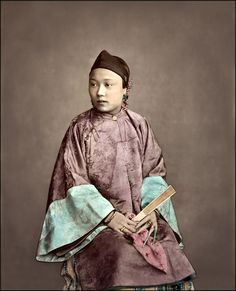 """Fille De Shanghai Raimund Von Stillfried-Ratenicz [RESTORED] - The title translates to """"Girl from Shanghait"""". Asian History, British History, Art History, History Facts, Shanghai, Photos Du, Old Photos, Vintage Photos, China People"""