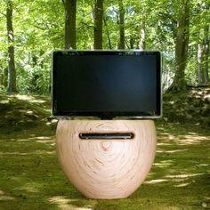 Bloom | TV stand | Birch wood | design by Leon van Zanten  #design #tvstand #tvfurniture #leonvanzanten #organicshape