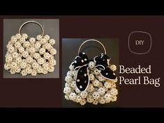 Diy Handbag, Diy Purse, Jewelry Making Beads, Beaded Jewelry, Beaded Bracelets, Crochet Bag Tutorials, Beading Patterns Free, Beaded Crafts, Beaded Bags