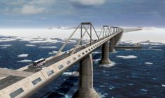 Epic bridge to connect America with Russia, so you can road trip from NYC to Moscow - Posted on Roadtrippers.com!
