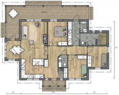 Future House, House Plans, Sweet Home, Floor Plans, Layout, Flooring, How To Plan, Interior, Kitchen