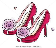 Sketchy style woman high heels - stock vector id 77041084