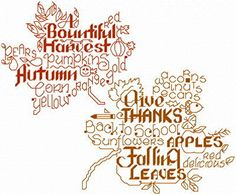 Lets Love Autumn cross stitch pattern by Ursula Michael.