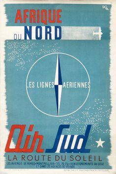 Afrique+du+Nord+-+Les+Lignes+Aeriennes+-+Air+Sud+by+D.G.