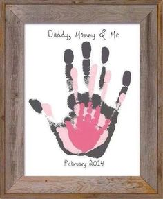 Family Handprint Overlay Memory Piece