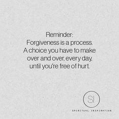 Reminder about Forgiveness