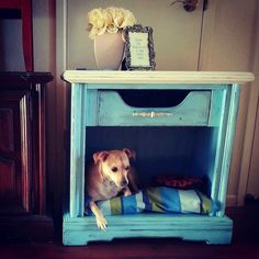 End Table Dog Bed by thepeachseahorse on Etsy, $150.00