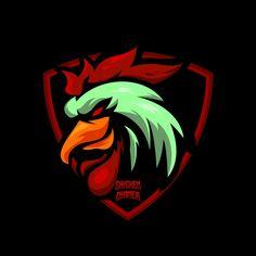 Logo de sport coq e Vecteur Premium Game Logo Design, Logo Design Template, Free Vector Graphics, Free Vector Images, Logo Esport, Rooster Logo, Sacred Geometry Patterns, Free Logo Templates, Vector Game