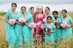 Stunningly vivid colors at this South Asian wedding by Chris+Lynn | via junebugweddings.com