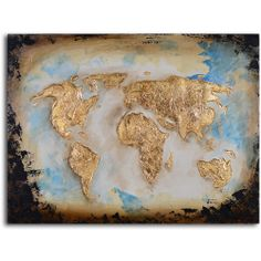 'Golden globe' Hand Painted Canvas Art | Overstock.com Shopping - The Best Deals on Canvas